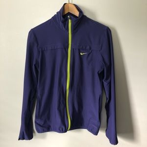 Nike 2.0 Full Zip Dri Fit Running Jacket Purple M